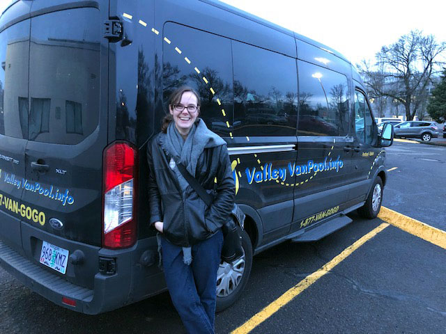 Nearly 100 Miles a Day by Biking and Vanpooling!